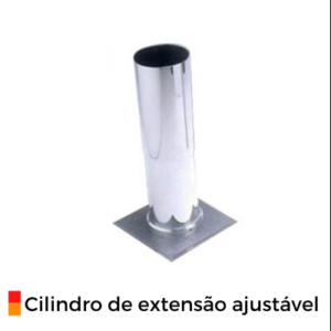 Cilindro de extensão ajustável cromado